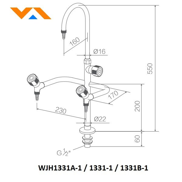 Laboratory Faucet (03 way) WJH1331A-1