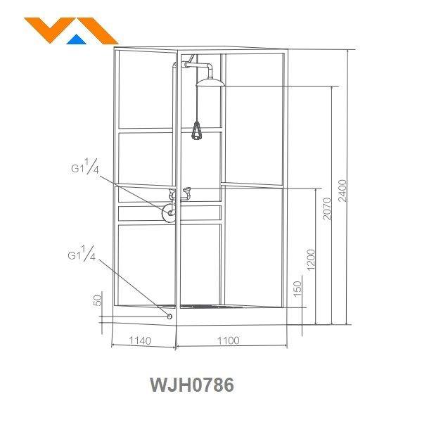 Combination eye wash and shower room WJH0786