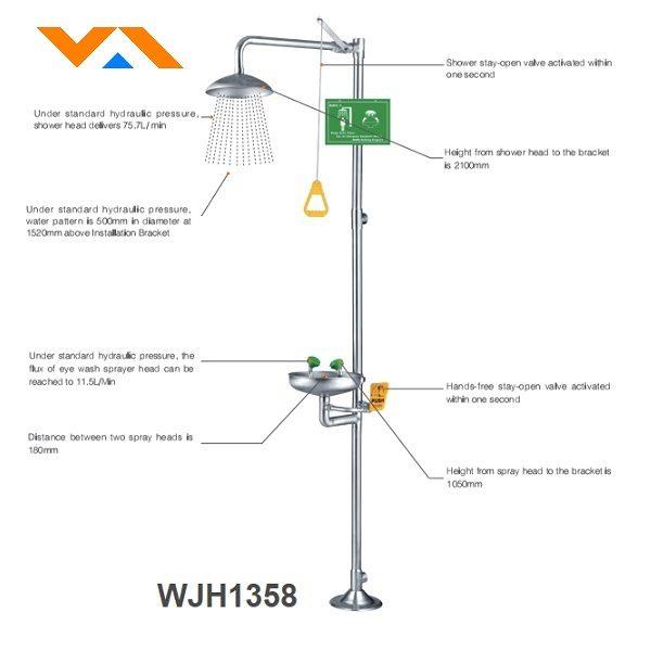 WJH1358 bồn rửa mắt và tắm khẩn cấp